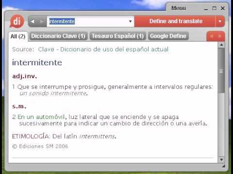 Definición de intermitente
