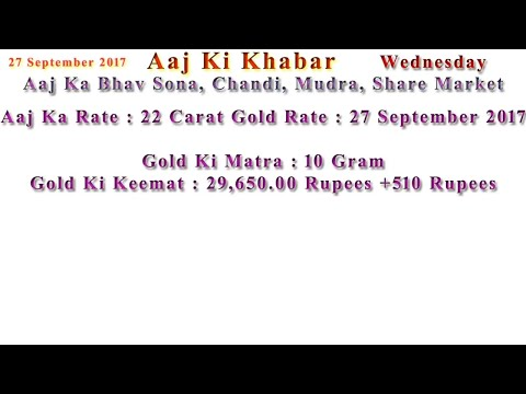 Aaj Ka Rate Gold, Silver, Currency, Share Market 27 September 2017 India Market News in Hindi