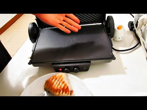 How to clean a grill? Contact grill Bosch TFB4431V / Grilled chicken breast & salmon