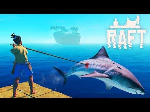 Уничтожили ГЛАВНОГО ВРАГА - АКУЛУ! Опасное ВЫЖИВАНИЕ в ОКЕАНЕ вместе с Funny Games TV Игра RAFT #2