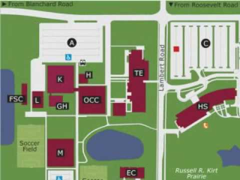 College Of Dupage Map Map to College of Dupage, Building K   YouTube