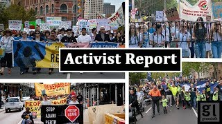 Palm Sunday justice for refugees marches lead this weeks Activist Report