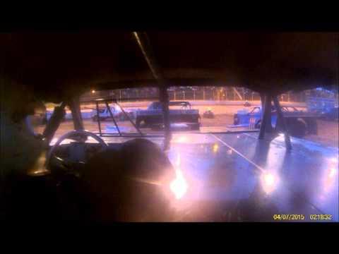 Heat race 5-16-15 in car camera John Michael Schmear