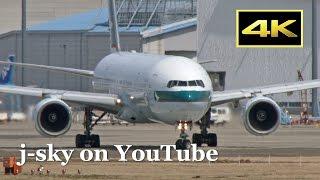 [4K] 2017 Spring - Cathay Pacific Airways Boeing 777-367 [B-HNK] at Narita Airport / 成田国際空港