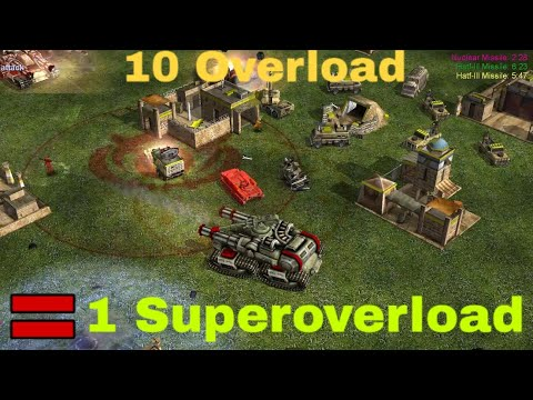 Super Heavy Overload Tank With Gattling  CANNONS | China Tank General | C&C Zero Hour 2 Vs 4