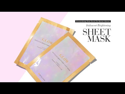 Everything You Need To Know About GLOW Iridescent Brightening Sheet Mask   How To   MyGlamm