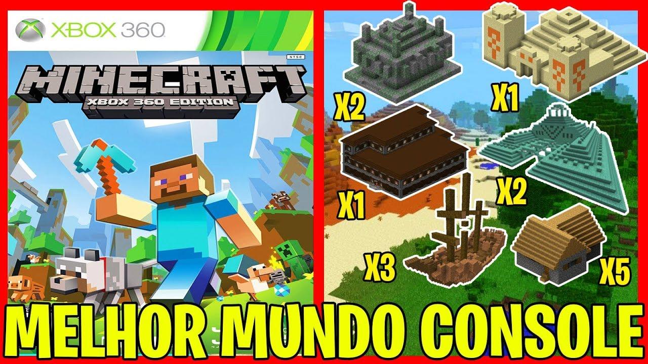 MINECRAFT - MELHOR SEED DE CONSOLE PARA VOCÊ TESTAR (Xbox 9, One, Ps9,  Ps9, Psvita, WiiU, Switch)