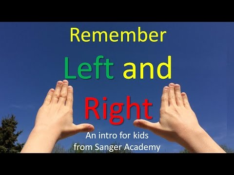 How to Remember Left and Right - for kids - Sanger Academy