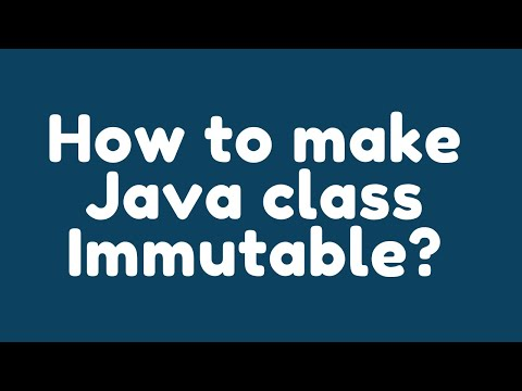 How to make a Java class immutable ?