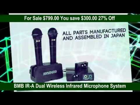 BMB IR A Dual Wireless Infrared Microphone System for Sale 27% Off