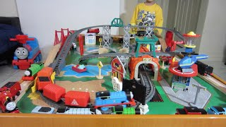 Kid Plays With Track Master Thomas The Train Toys