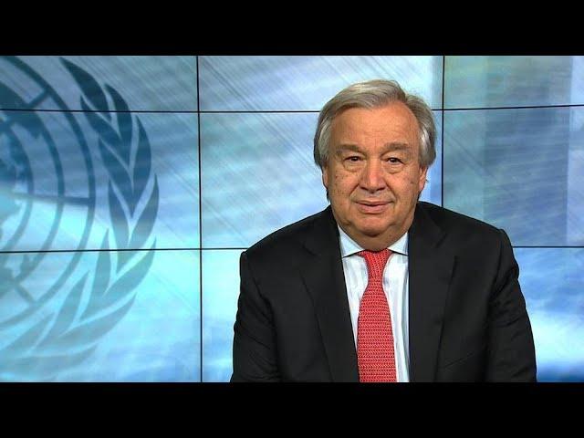 """""""Um alerta para o mundo"""" - Secretário-geral da ONU, António Guterres, mensagem de vídeo de 2018"""