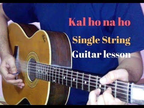 Kal ho na ho single string guitar lead lesson cover - YouTube
