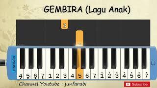 not pianika gembira - tutorial belajar pianika lagu anak - not angka bernyanyi kita bernyanyi
