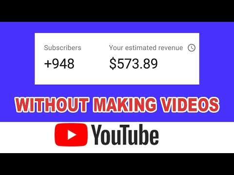 Earn $500 On Youtube Without Making/Recording/Filming Video