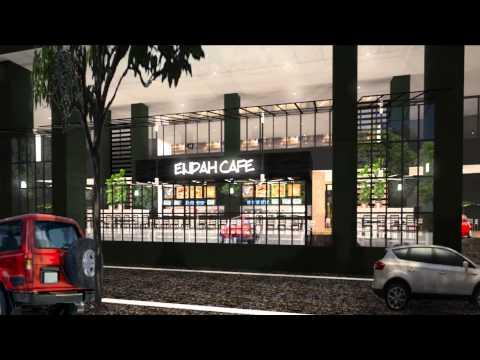 Design & build Endah cafe at Seri Petaling, KL interior my