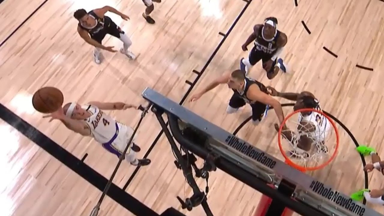 Alex Caruso tried the Rondo floater | Game 3 | LA Lakers vs Nuggets