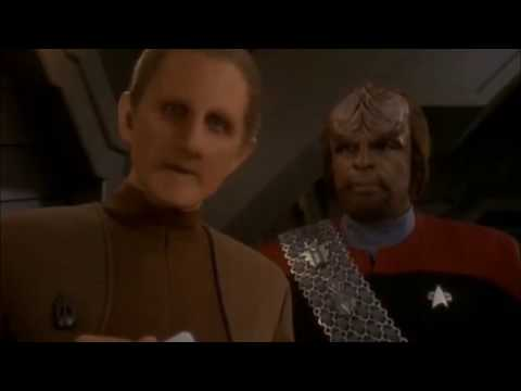 Odo and Worf talk about security and order