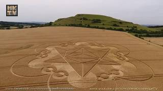 NEW CROP CIRCLE 2017 - Cley Hill, Warminster, UK, 18th July