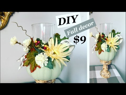 Fall decor DIY / Dollar tree items / farmhouse DIY decor