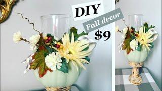 Fall decor DIY / Dollar tree items / farmhouse DIY decor