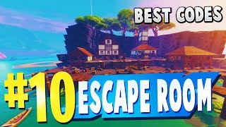 NOUVEAU TOP 10 BEST ESCAPE ROOM Creative Maps In Fortnite (fr) Fortnite Escape Room Carte CODES
