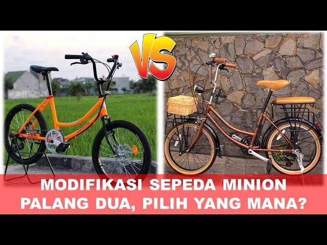 Restorasi Sepeda Minion Palang Dua Ukuran 20 Dari Barang Rosok Jadi Mewah Youtube