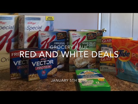 RED & WHITE DEALS - GROCERY HAUL