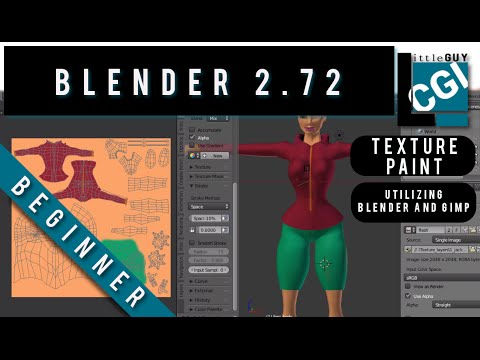 Texture Paint Fast and Easy with Blender 2.72b ( also utilizes GIMP)