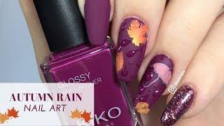 How to: Raindrop Nails | Autumn Rain | Nail Art TUTORIAL