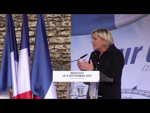 Discours de Marine Le Pen pour sa rentrée politique 2017.