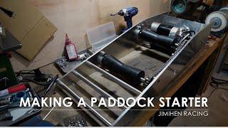Making a paddock starter roller starter レースバイク用エンジンスターターの制作