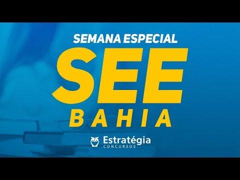 SEE-BA   Conhecimentos Gerais I - Prof. Rodrigo Bandeira   Ao vivo