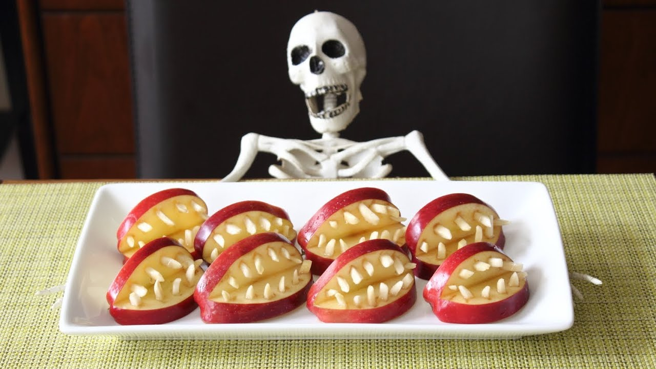 healthy super scary apple halloween treats youtube - Scary Dishes For Halloween