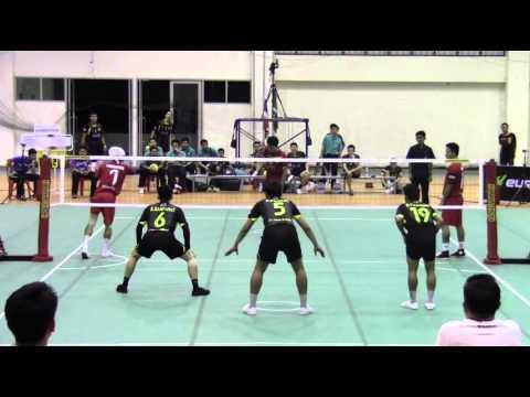การแข่งขันตะกร้อไทยแลนด์ลีก 2014 ระหว่าง สโมสรตะกร้ออุบลฯ VS สโมสรตะกร้อนมหนองโพราชบุรี