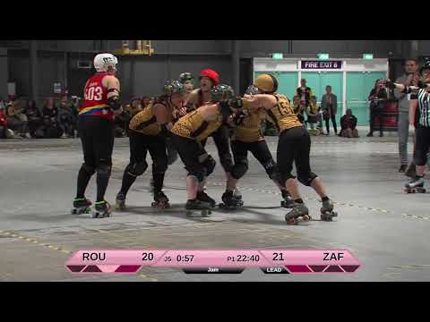 Roller Derby World Cup 2018 Romania vs. South Africa