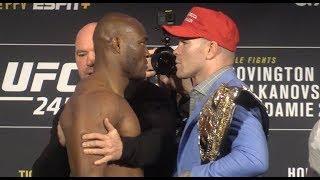 UFC 245 Face-Offs: Colby Covington vs Kamaru Usman Tense Staredown
