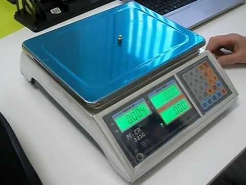 Как работать с электронными весами