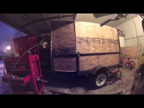 Homemade enclosed trailer build part1of3