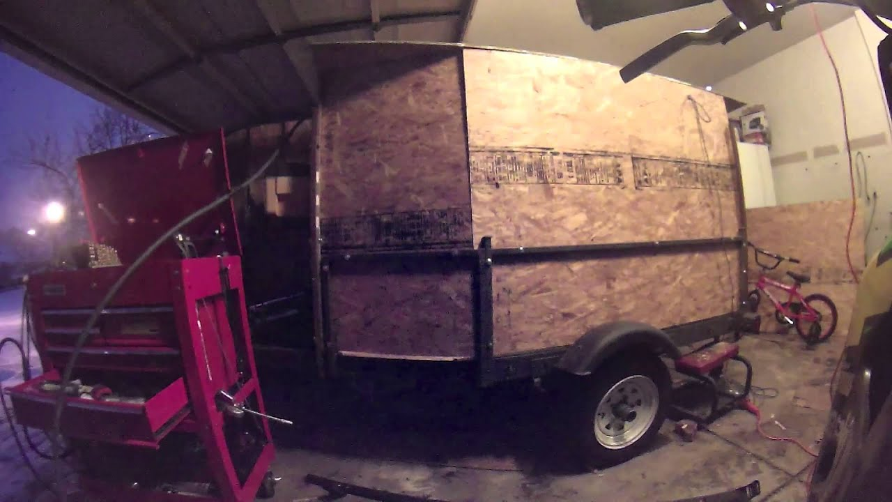 Homemade enclosed trailer build part1of3 youtube homemade enclosed trailer build part1of3 solutioingenieria Gallery
