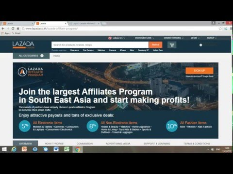 How To Sign Up In Lazada Affiliate Program?