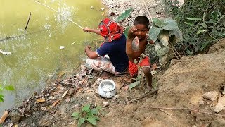 Best Hook Fishing | Kids Fishing By Village Lifestyle | Best Fishing Video