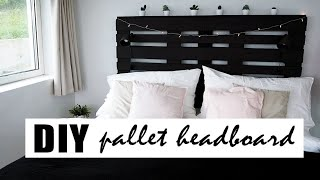 DIY | The perfect pallet headboard