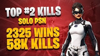 TOP #2 kILLS SOLO PSN // 2340 WINS // 58000 KILLS // NO SCUFF-CLAW