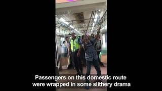 Indonesian man kills snake on train with bare hands