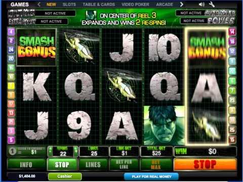 Игровой автомат Халк или The Incredible Hulk