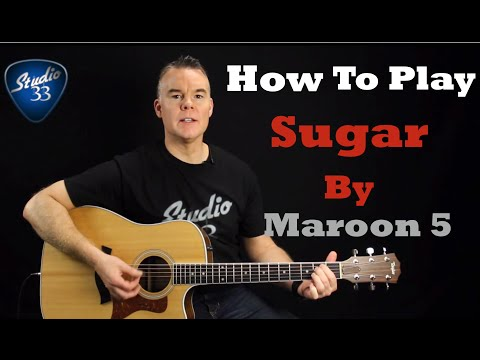 How To Play SUGAR On Guitar Maroon 5. Easy Beginner Song