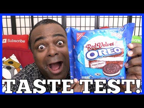 RED VELVET OREO TASTE TEST!