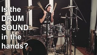 Is the DRUM SOUND in the hands?