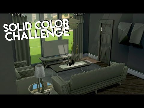SOLID COLOR CHALLENGE // The Sims 4: Speed Build thumbnail